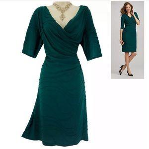 20W 2X▪️SEXY DARK GREEN TEXTURED DRESS Plus Size